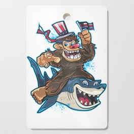 Bigfoot Shark July 4th Cutting Board