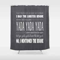 seinfeld Shower Curtains featuring I Mentioned the Bisque - TV Series Seinfeld Poster Print by Eyne Photography