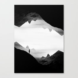 black wasteland isolation Canvas Print