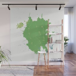 San Antonio Texas Minimalist Map (Cucumber) Wall Mural
