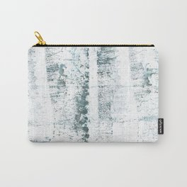 Gray blue smoke wash drawing painting Carry-All Pouch