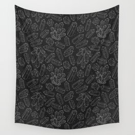 Black Crystals Wall Tapestry