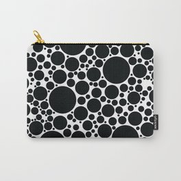 Packed Circles Black and White Carry-All Pouch