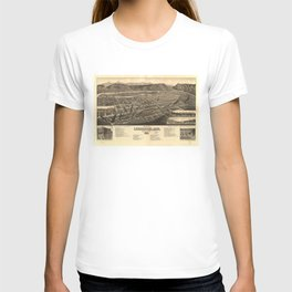 Bird's Eye View of Livingston, Montana (1883) T-shirt