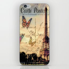 Vintage Paris-Carte Postale iPhone Skin