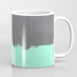 Mint Paint on Concrete Coffee Mug