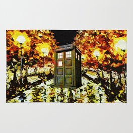 tardis starry night - cool Rug