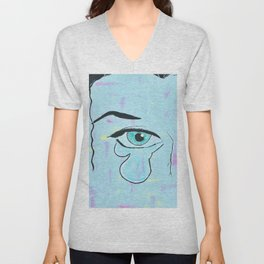 Tear Drop Unisex V-Neck