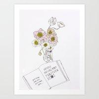 Vivid Flowers - Inspirational Quote Art Print