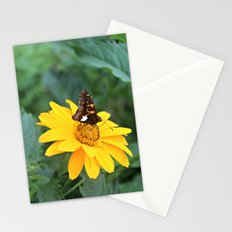 butterfly on a flower Stationery Cards