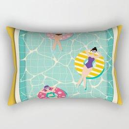 At The Pool Rectangular Pillow