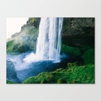 waterfall Canvas Prints featuring Waterfall by StayWild