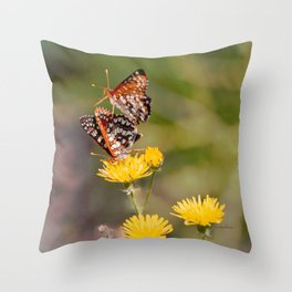 Butterfly Acrobats Throw Pillow