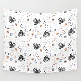 Optometry on White Wall Tapestry
