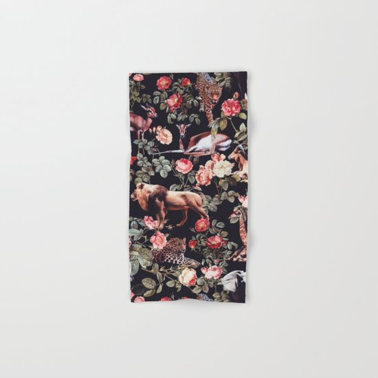Animals and Floral Pattern Hand & Bath Towel