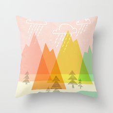 Raindrop Valley Throw Pillow