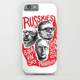 Russkies-Russian composers iPhone Case
