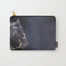 Friesian horse portrait Carry-All Pouch