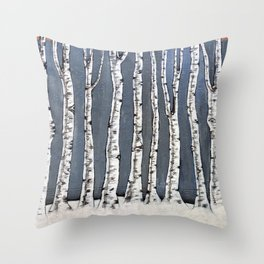 White book Throw Pillow