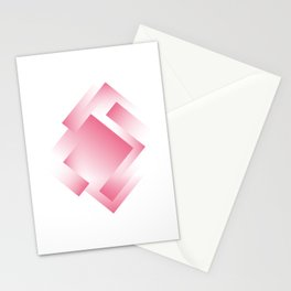 pink color energy labyrinth Stationery Cards