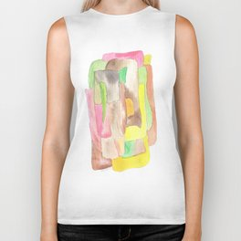 171013 Invaded Space 9|abstract shapes art design |abstract shapes art design colour Biker Tank