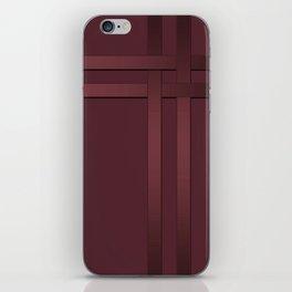 Red-brown, ribbon iPhone Skin