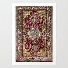 Farahan Arak West Persian Silk Rug Print Art Print