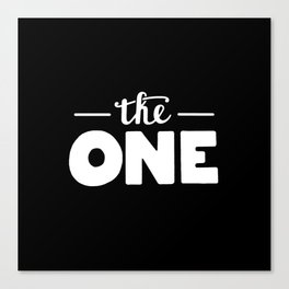 The one #2 Canvas Print