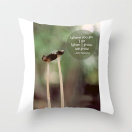 Our Growth Throw Pillow