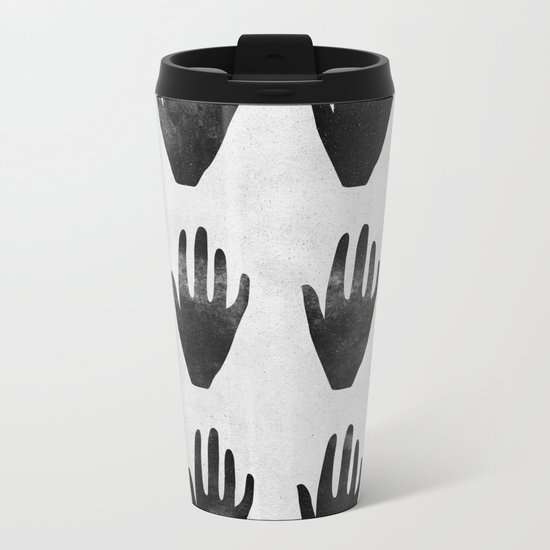 hands Metal Travel Mug