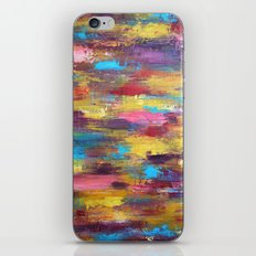 Primary - Textured Palette Knife Painting iPhone & iPod Skin