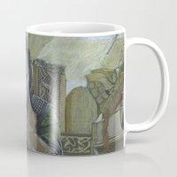 loki Mugs featuring Loki by theMAINsketch