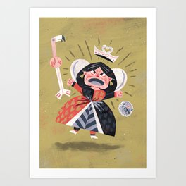 Queen of Hearts - Alice in Wonderland Art Print