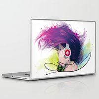 snatch Laptop & iPad Skins featuring Listen. by Lorenzo Imperato