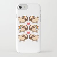 asexual iPhone & iPod Cases featuring Puglie Pride by Puglie Pug
