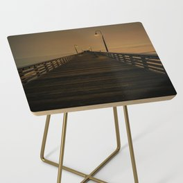 Wooden Pier on Cayucos Beach, California at Sunset Side Table