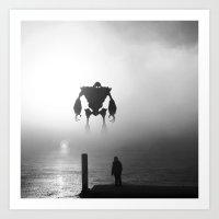 iron giant Art Prints featuring Iron Giant by Jonah & Cameron Cawston
