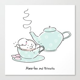 Mana-tea and Biscuits! Canvas Print