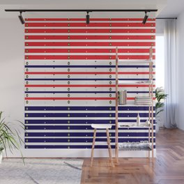 Red White & Blue in lights Wall Mural