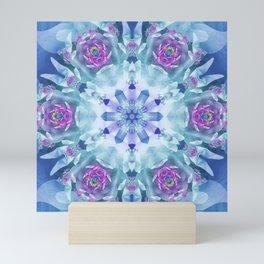 Royal Blue and Purple Mandala Mini Art Print
