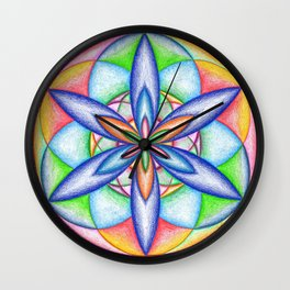 Expanding Flower Power - The Rainbow Tribe Collection Wall Clock