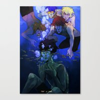 iwatobi Canvas Prints featuring FREE! IWATOBI SWIM CLUB by Frank Odlaws