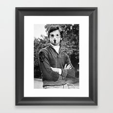 My dog is cool. Framed Art Print