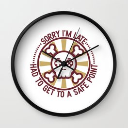 I Had To Get To A Save Point Gift Wall Clock