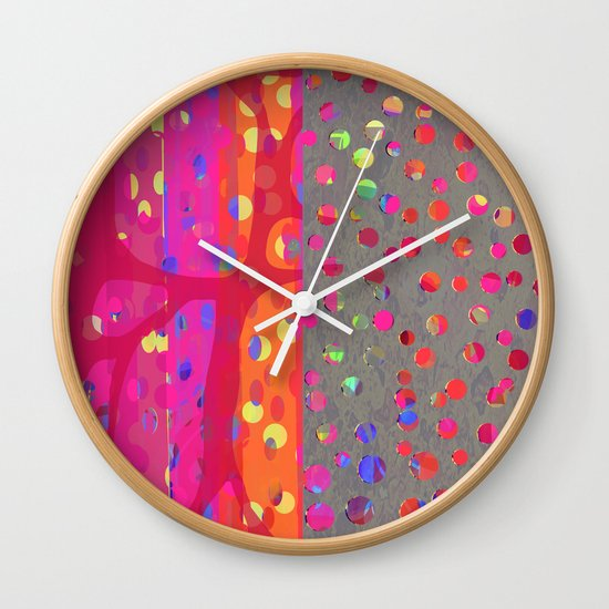 Falling Together (7) Wall Clock