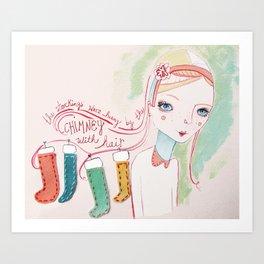 by the chimney Art Print