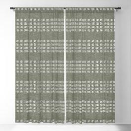 farmhouse stitch - olive Blackout Curtain