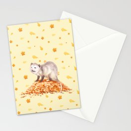 Autumn Opossum Stationery Cards