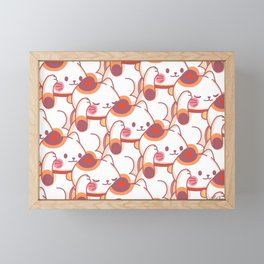 Maneki-Neko Pattern Framed Mini Art Print