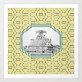 Detroit, Michigan_Scott Fountain_Belle Isle Art Print
